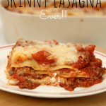 The Easiest Skinny Lasagna recipe EVER and a RED GOLD® Lasagna Kit Giveaway!