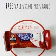 I Chews You FREE Valentine Printable