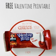 I Chews You: FREE Valentine Printable