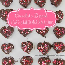 Gift Idea: Chocolate Dipped Heart-Shaped Marshmallows