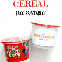 Fruit Loop Cereal FREE Valentine Printable