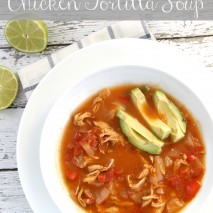 Slow Cooker Chicken Tortilla Soup (Paleo and Whole 30 Approved)