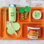 Super cute idea...St. Patrick's Day: Lucky Lunch