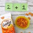 Educational activity: math practice with Pepperidge Farm® Goldfish® crackers