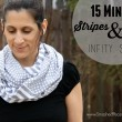 Make this beautiful Stripes and Dots Infinity Scarf in just 15 minutes!