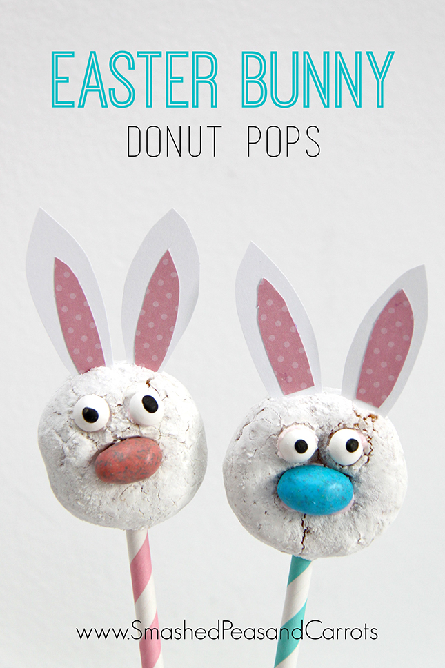 Easter Bunny Donut Pops Smashed Peas Carrots