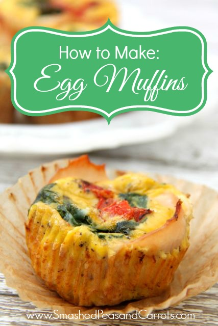 How to Make: Egg Muffins Recipe - Smashed Peas & Carrots