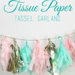 How to Make: Tissue Paper Tassel Garland // Smashed Peas and Carrots