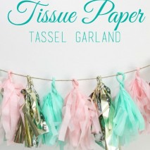 How to Make: Tissue Paper Tassel Garland
