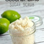 DIY Coconut Lime Sugar Scrub with FREE printable label