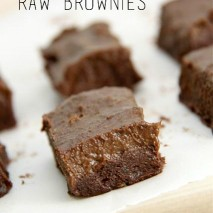 Raw Brownies Recipe: Paleo and Gluten Free