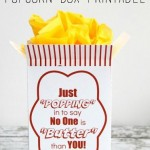 Gift Idea: Movie Night in a Popcorn Box with Free Printable
