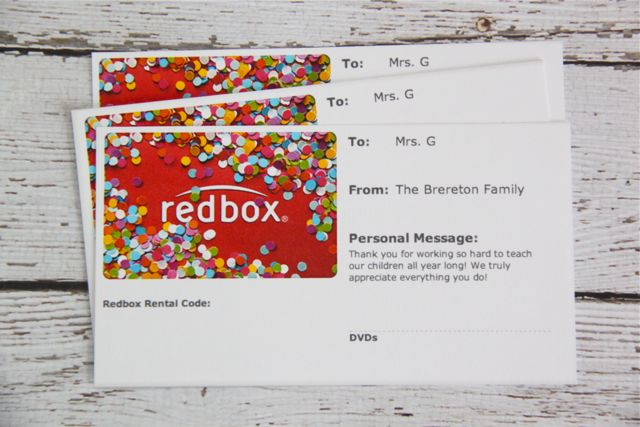 graphic about Printable Redbox Gift Cards known as Present Notion: Video clip Night time within just a Popcorn Box with Absolutely free Printable