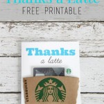 Free Printable: Thanks A Latte Coffee Gift Card