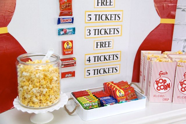 Family Game Night Concession Stand…such a cute idea // Smashed Peas and Carrots