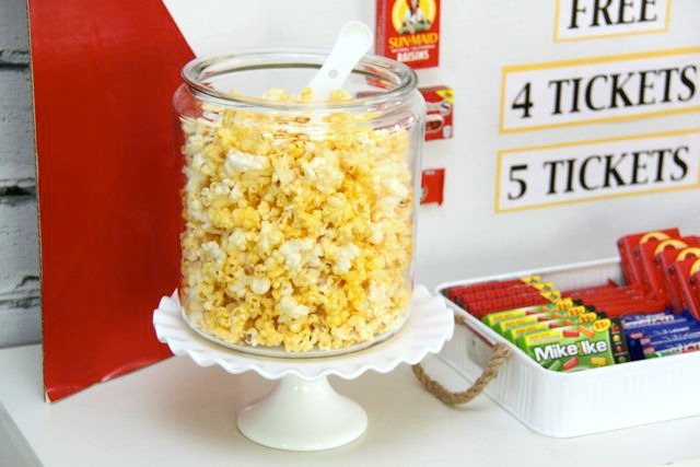 Movie Night Concession Stand…such a cute idea // Smashed Peas and Carrots