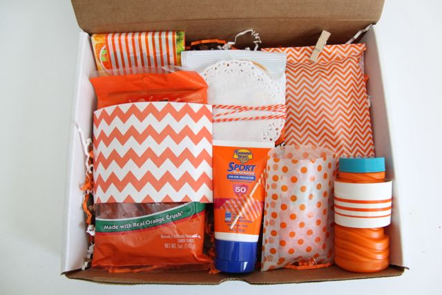 Happy Mail: Orange You Glad It's Almost Summer Gift Idea // Smashed Peas and Carrots