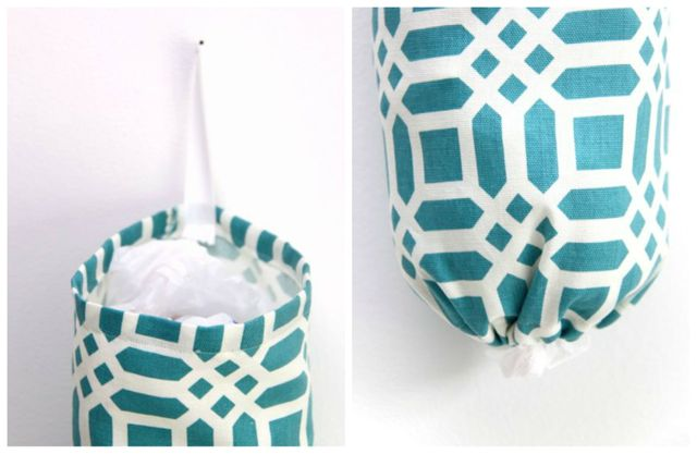 The 10 Minute Grocery Bag Holder Tutorial // Smashed Peas and Carrots
