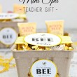 How cute is this! Burt's Bees Teacher Gift Idea with Free Printable Tags // Smashed Peas and Carrots