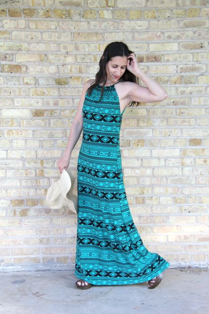 Halter neck maxi dress tutorial