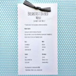 Father's Day Breakfast in Bed Menu Free Printable