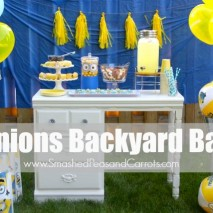 Minions Backyard Bash and How to Make Minions Rice Krispie Treats