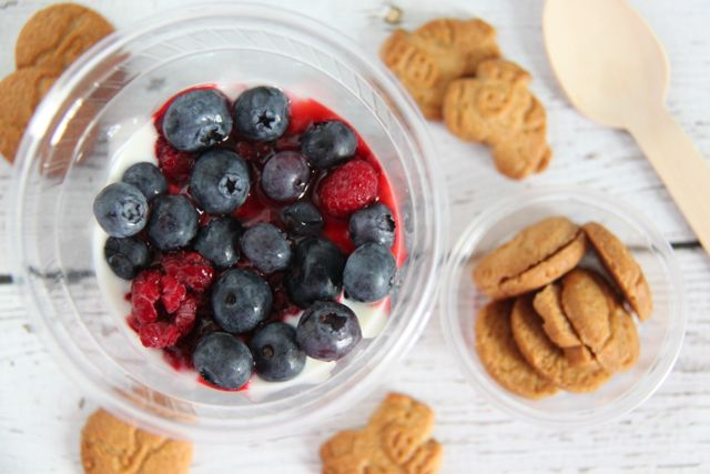 Yogurt Parfait Cups are such a fun idea for on the go snacking // SmashedPeasandCarrots.com