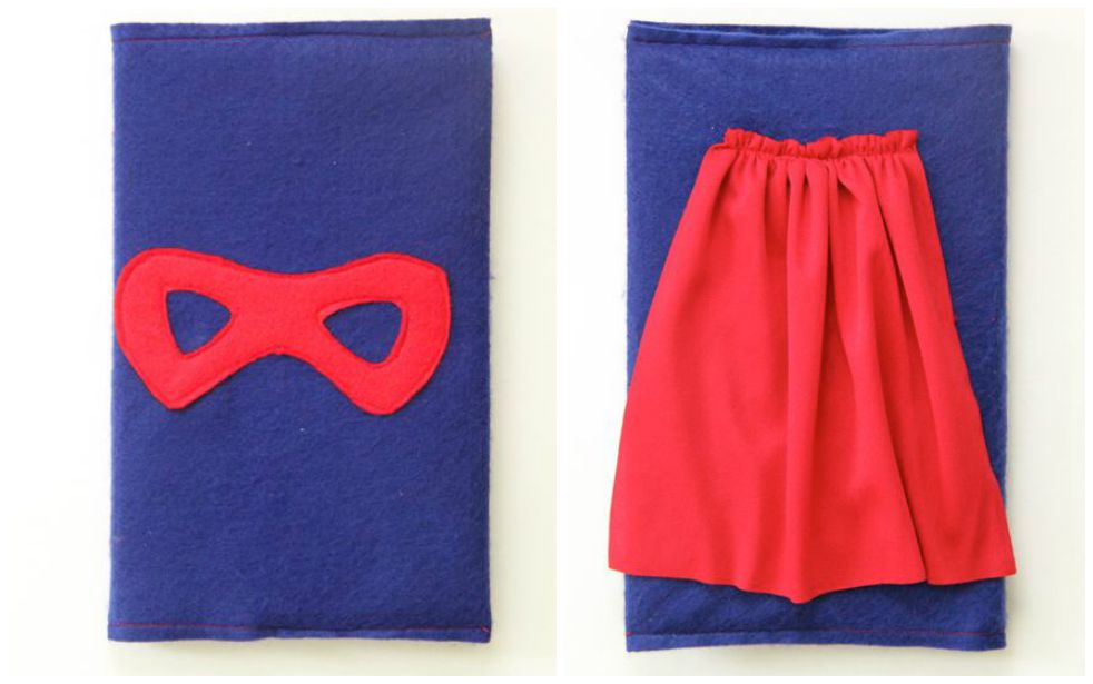 Super Hero Book Cover Tutorial. How adorable for those super readers!!! // SmashedPeasandCarrots.com