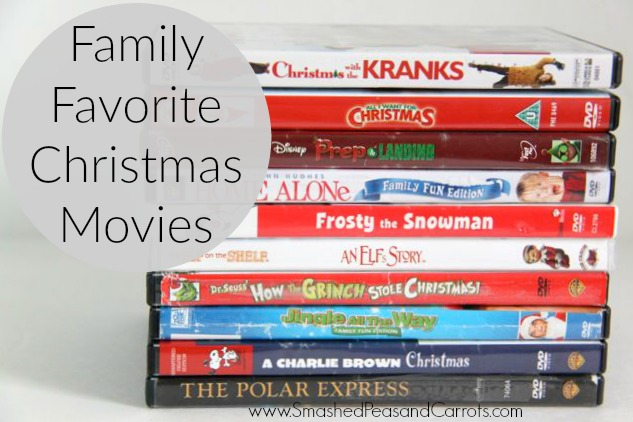 Family Favorite Christmas Movies // SmashedPeasandCarrots.com