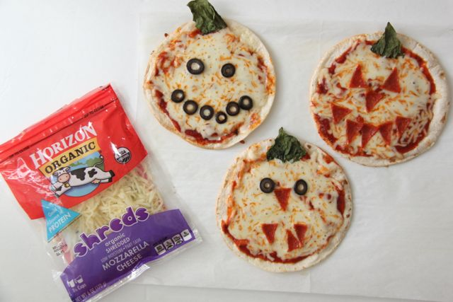Make Your Own Mini Pumpkin Pizzas