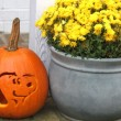 Snoopy Carved Pumpkin for the Peanuts Movie…so cute!! // SmashedPeasandCarrots.com
