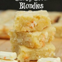 White Chocolate Candy Corn Blondies Recipe