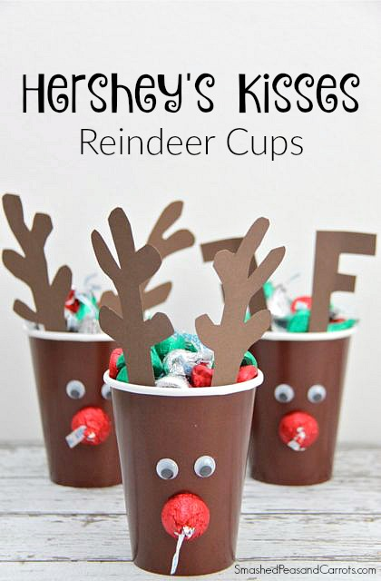 Hershey's Kisses Reindeer Cups - Smashed Peas & Carrots