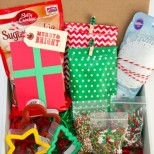Adorable Christmas Cookie Party In a Box Gift idea! // SmashedPeasandCarrots.com