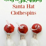 Hershey's Kisses Santa Hat Clothespins