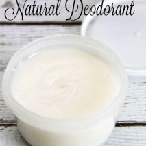 3 Ingredient Natural Deodorant