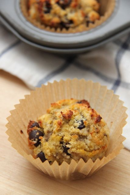 Grain Free Chocolate Chip Banana Bread Muffin Recipe (Paleo, Gluten Free and Dairy Free) // SmashedPeasandCarrots.com