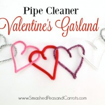 Pipe Cleaner Valentine's Garland