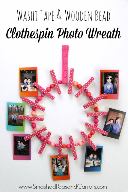 http://smashedpeasandcarrots.com/wp-content/uploads/2016/03/Clothespin-Photo-Wreath5.jpg