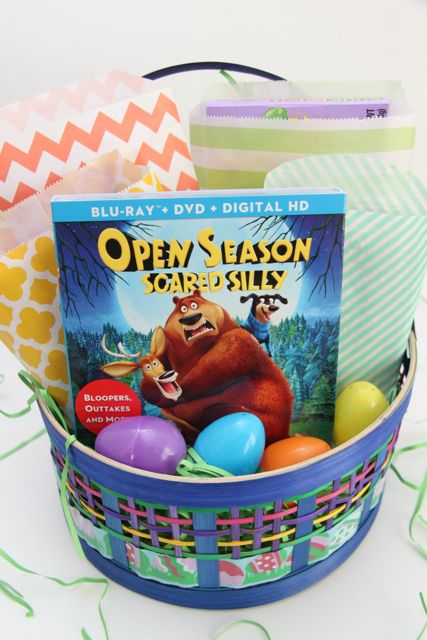 Family Movie Night Easter Basket // SmashedPeasandCarrots.com