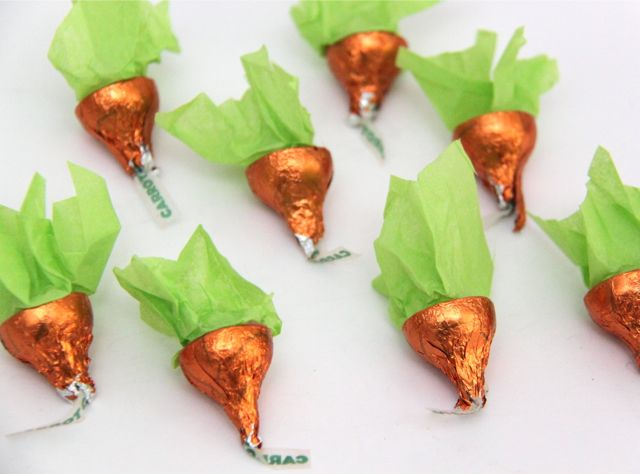 Hershey's Kisses Carrot Treats // SmashedPeasandCarrots.com