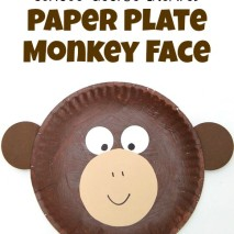 Curious George Inspired Paper Plate Monkey Craft