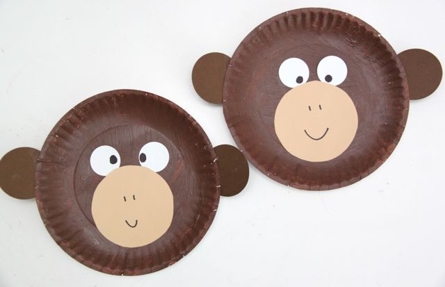 curious george inspired paper plate monkey craft smashed