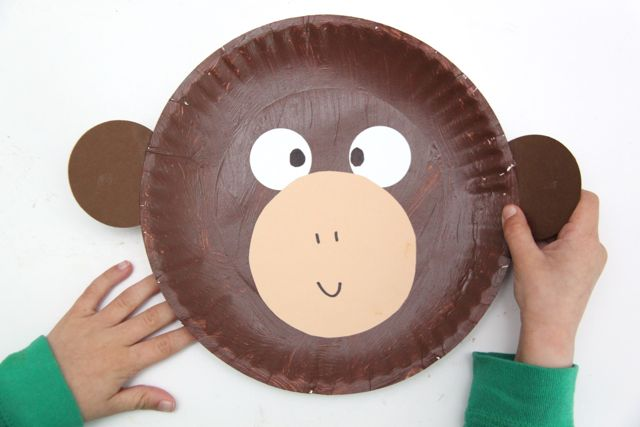 Curious George Inspired Monkey Craft // SmashedPeasandCarrots.com