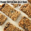 Peanut Butter and Jelly Bar Recipe // SmashedPeasandCarrots.com