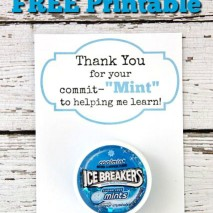 Teacher Gift Idea: 'Thank You for Your Commit-MINT' with FREE Printable