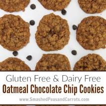Gluten Free and Dairy Free Oatmeal Chocolate Chip Cookie Recipe