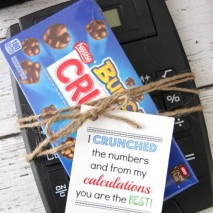Teacher Gift Idea: 'I Crunched The Numbers' with FREE Printable