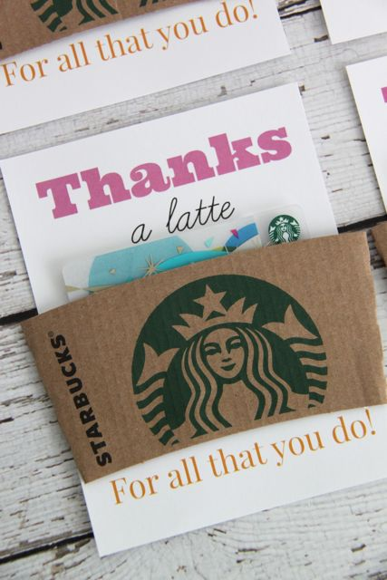 Thank You Gift Idea: Thanks a Latte in Pink // SmashedPeasandCarrots.com