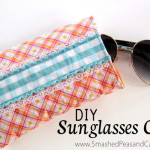 DIY Sunglasses Case Tutorial // SmashedPeasandCarrots.com
